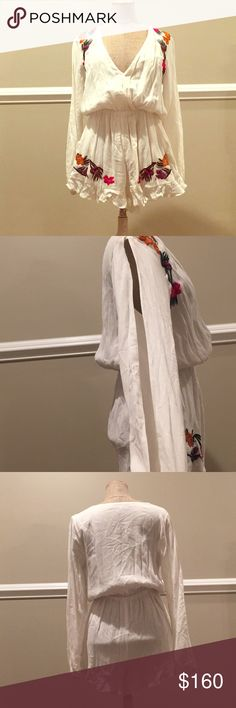 """Lovers + Friends """"bevello"""" Romper Perfect summer Romper! Great for vacations! It's so comfortable and breezy! NWT Lovers + Friends Dresses Mini"""