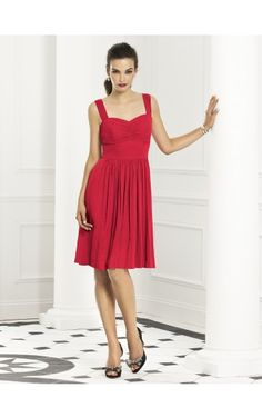 Sleeveless Zipper Shoulder Straps Knee-length Chiffon Formal Dresses b140552