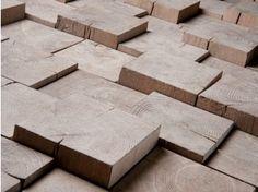 Wooden 3D Wall Mosaic PAVE BOIS DEBOUT VIEILLI - Parqueterie Beau Soleil