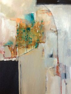 """Rebirth-Abstract by Joan Fullerton Acrylic ~ 48"""" x 36"""""""