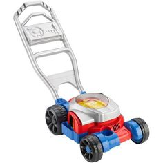 Fisher-Price Bubble Mower More bubbles than ever! Roll along to see motor spin! Blows bubbles on grass, sidewalks, driveways Lighter handle-easier to push and pull and helps prevent tip-overs Bubble solution included Toddler Toys, Baby Toys, Kids Toys, 80s Kids, Toddler Gifts, Kids Fun, Outdoor Toys For Toddlers, Bubble Maker, Push Toys