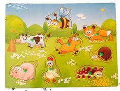 Puzzle din lemn cu maner Animale Domestice Ham, Pikachu, Puzzle, Character, Design, Bebe, Puzzles, Hams, Riddles
