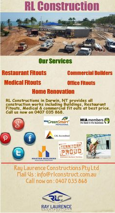 Builders in Darwin  RL Constructions in Darwin, NT provides all construction…