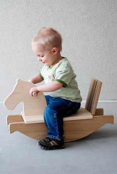 Rocking Horse wooden toy kids toy safe toy by littlesaplingtoys