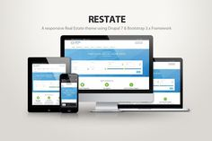 Restate - A real estate drupal theme by DrupalThemez on @Graphicsauthor
