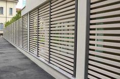 Recinzione da giardino / a lamelle / in legno composito (wpc) / spazzolata VERSATILIS JF7040 WOODN INDUSTRIES