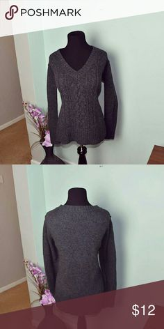 Beautiful Charcoal Colored V Neck Sweater In excellent condition. Super soft and stretchy. Sweaters V-Necks