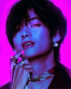 Bts Taehyung, Taehyung Fanart, Bts Bangtan Boy, Foto Bts, Bts Photo, Bts Vampire, Bts Anime, Fanart Bts, Bts Drawings