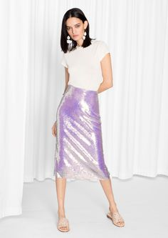 & Other Stories | Sequin Pencil Skirt