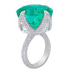 GABRIELLE'S AMAZING FANTASY CLOSET | Nirav Modi Colombian Emerald and diamond Ring