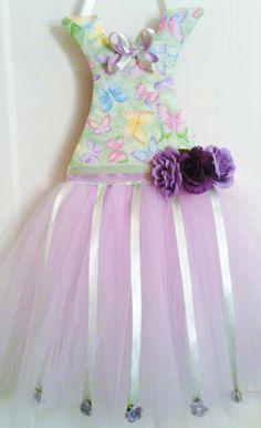 Lavender Handmade Tutu Dress Hair Bow Holder by Tu2Rific on Etsy, $30.00