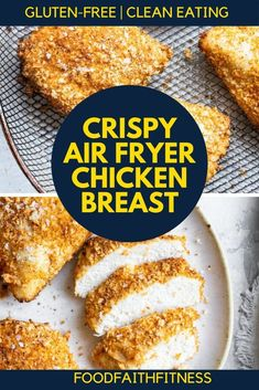 This air fryer chicken recipe is a delicious gluten free dinner that everyone will love. Simple to make, this recipe will give you crispy chicken breast that is the perfect main dish for your weeknight dinner plans. Recipes Using Rotisserie Chicken, Paleo Chicken Recipes, Easy Chicken Dinner Recipes, Gluten Free Chicken, Chicken Meals, Paleo Recipes, Easy Recipes, Healthy Meals For One, Healthy Eating Recipes