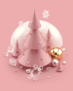 Beautiful trendy Christmas illustrations and Scene Creator in Rose Gold colors. Cute snowman in a knitted hat and scarf. Christmas trees with decorations. Christmas gift boxes with sparkling ribbons and bows. Glittering Christmas ball with diamonds. Christmas Gift Box, Pink Christmas, Christmas Design, Christmas Balls, Christmas And New Year, Christmas Kitchen, Funny Christmas, Christmas Sweaters, 3d Modelle