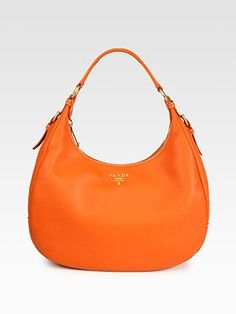 Prada - Vitello Daino Small Hobo - Saks.com