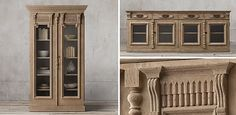 19Th C. French Carved Door Shelving Collection   Restoration Hardware