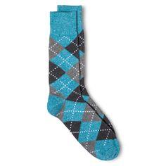 Crew Argyle Socks - Blue - One Size Fits Most - Merona, Grey Blue