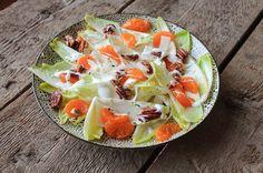 Witlofsalade met mandarijn - http://dezusvanpauline.jimdo.com/2015/05/16/gezond-ijs/