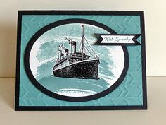 Stampin Along With Heidi: - The Wacky Watercooler Colour Challenge Nautical Cards, Beach Cards, Travel Cards, Scrapbooking, Fathers Day Cards, Watercolor Cards, Sympathy Cards, Masculine Cards, Paper Cards