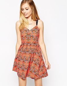 Image 1 ofASOS Sundress with Strappy Back in Aztec Print