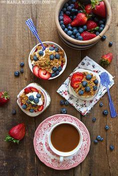 Berry Cream Pies in Jars
