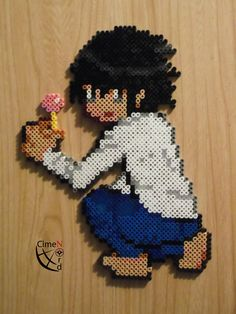 L Death Note Trainer Perler by Cimenord.deviantart.com on @deviantART