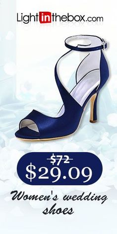 4799bc51cf7f   29.99  Women s Shoes Elastic Fabric Summer Basic Pump Wedding Shoes  Stiletto Heel Peep Toe Buckle Dark Blue   Blue   Dark Purple   Party    Evening