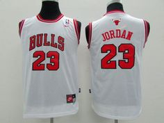 NBA Youth #23 white  jersey