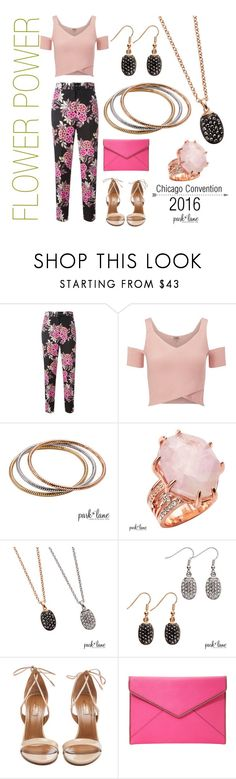 """""""Flower Power"""" by parklanejewelry on Polyvore featuring MSGM, Lipsy, Aquazzura and Rebecca Minkoff"""