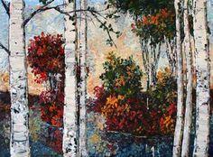 "Landscape Fine Art ""Birch at a Scottsdale Art Gallery Birch, Original Artwork, Contemporary Art, Art Gallery, Fine Art, Landscape, The Originals, Canvas, Artist"