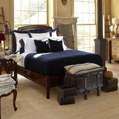 Ralph Lauren Argonne BED ~ SALE  Available Queen Only!  This grand-scaled bed features a Louis XVI style headboard with fluted columns and urn-shaped finials with rosettes.  http://pacificheightsplace.com/ralaarbedqu.html