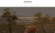 Photoite is a responsive WordPress theme created for creative Photographers with a minimalist design and optimized for mobile. Photoite wordpress theme is a number one choice if you are a portfolio, agency gallery or a freelancer. #wordpress #wordpressthemes #themes