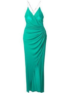 BALMAIN draped dress #dress #balmain #women #covetme