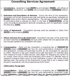 printable sample it services contract form - Maintenance Service Contract Sample