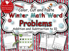 Winter Math Word Problems product from TheMoffattGirls on TeachersNotebook.com