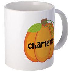 Personalized Halloween Pumpkin Mug on CafePress.com