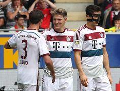 German star Bastian Schweinsteiger (centre) is a potential summer transfer target for Manchester United