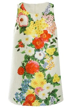 Floral Textured Shift Dress