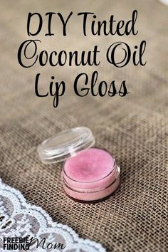 DIY Tinted Coconut Oil Lip Gloss - Moisturize your lips with this all natural DIY lip gloss. You can personalize your homemade lip gloss by adding your favorite lipstick. What other homemade beauty recipes do you use?