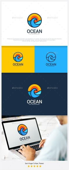 Ocean Travel Logo — PSD Template #tour #adventure • Download ➝ https://graphicriver.net/item/ocean-travel-logo/18264836?ref=pxcr
