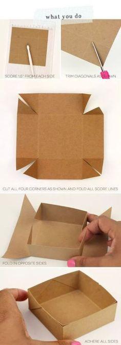 Cajita papel madera