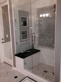 Bathroom remodel small shower master baths built ins 47 Ideas for 2019 Bathroom Renos, Bathroom Wall Decor, Laundry In Bathroom, Bathroom Renovations, Small Bathroom, Master Bathroom, Master Baths, Master Bath Remodel, Upstairs Bathrooms