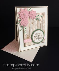 Inspired by Color – Sweet & Rustic Birthday Card (Mary Fish, Stampin' Pretty The Art of Simple & Pretty Cards) Simple Birthday Cards, Happy Birthday Cards, Stampin Pretty, Stampin Up, Rustic Birthday, Mary Fish, Stamping Up Cards, Pretty Cards, Flower Cards