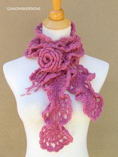 Free Scarf Crochet Pattern | Easy Crocheted Scarf or Muffler
