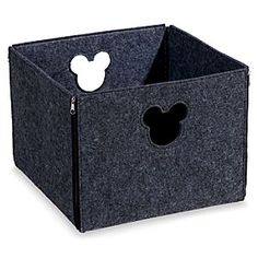 Mickey Mouse Fantastic Felt Square Basket | Disney Store Mickey makes himself useful around the house with this Fantastic Felt Square Basket. Available in a variety of colors, they make the perfect storage space for bedding, toys, clothes, books, and more. Mickey icon handles add character.