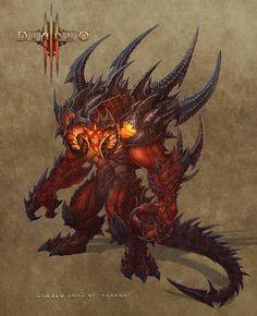 Ce à quoi Diablo 3 aurait pu (du ?) ressembler - Page : 4 - Diablo III Fantasy Demon, Fantasy Monster, Monster Art, Fantasy Warrior, Dark Fantasy Art, Fantasy Artwork, Ange Demon, Demon Art, Demon Horse