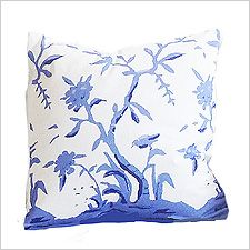 Dana Gibson Blue Cliveden Pillow Blue and White Decor