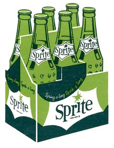 Sprite Matchbook Art (1960's)