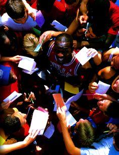 MJ. Swarmed.