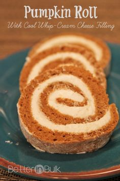 Pumpkin Roll With Cool Whip-Cream Cheese Filling - Better in Bulk