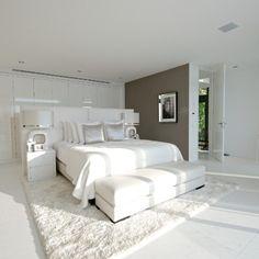 Small Room Divider, Small Room Decor, Small Rooms, Bedroom Furniture Design, Master Bedroom Design, Master Suite, Neutral Bedrooms, Trendy Bedroom, White Bedroom
